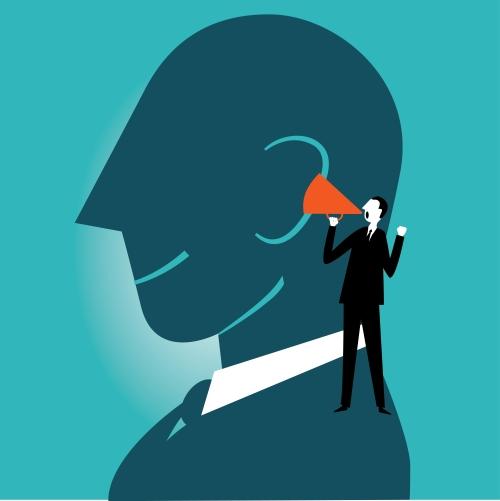 consulenti in criticita aziendali - uomo con il megafono stilizzato